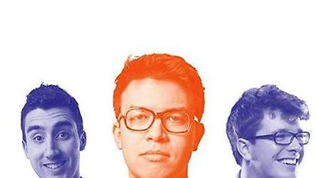 Comedian Phil Wang (centre) is to perform at Cambridge Corn Exchange on Friday June 24 as part of it