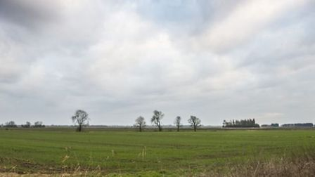 A view over Ongar Hill Road, Terrington St Clements, near one of the wind turbine sites