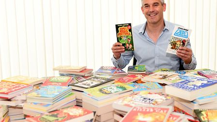MP Steve Barclay with some of the books that have been donated
