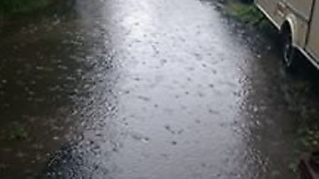 Flooding in Station Road in June 2016