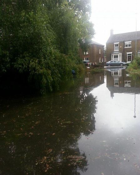 Flooding in Statioin Road - August 2014