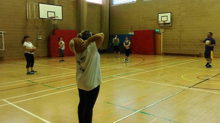 The East Cambs Amazons' first training session.