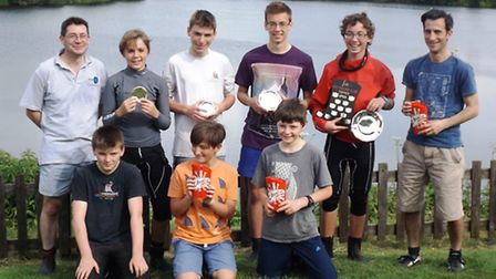 The sailors who took part in Ely Sailing Club's Topper Open.