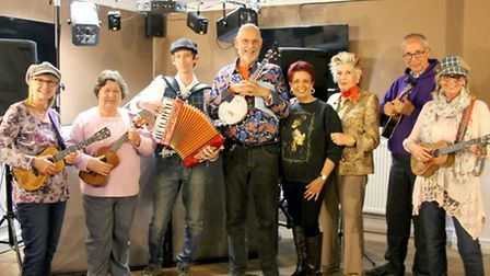 A concert hosted by Squeezerocks and the Rockin' Ukuleles has raised £110.64 for Fenprobe Talking Ne