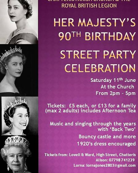 Street party at Chatteris Parish Church will celebrate the Queen's 90th birthday