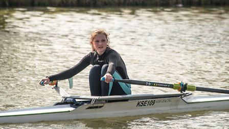King's Ely rower Emily Moore took gold in her heat at the annual Ball Cup Spring Regatta.