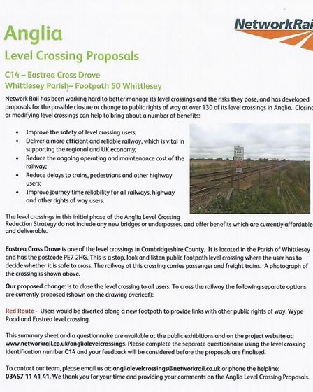Level crossing Eastrea Drove, Whittlesey