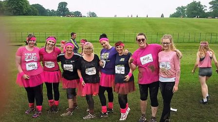 Members of March charity, FACET, who took on the Muddy Run.