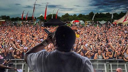 Hip-hop star Nelly entertained 5,000 festival goers at Strawberries & Creem Festival at Haggis Farm