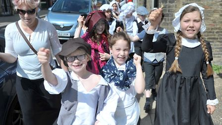 Littleport Community Primary School celebrates 200 years of the Littleport Riots. Picture: Steve Wil