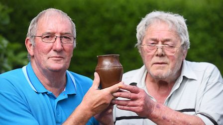 Lew Gray and (pictured) Alan have an archeological discovery that was found in the Fens, close to wh