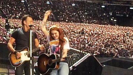 Dreams come true for Chatteris teenager Lizzie as she performs with Bruce Springsteen on Glasgow sta