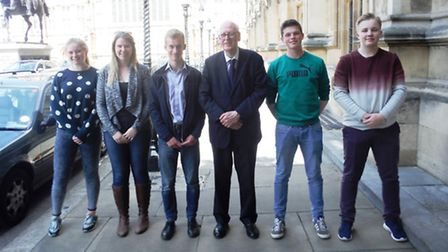 Government and Politics students from King's Ely with Lord Hennessy of Nymsfield.