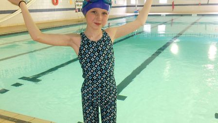 Roisin Larham. (9yrs old) took part in a sponsored swim She managed to swim 30 lengths of the George
