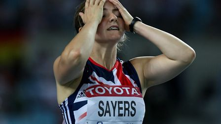 Sayers missed out on a medal in the 2008 Beijing Olympics after finishing fourth in the javelin.