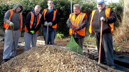 New Winter Garden that Wisbech in Bloom have created in Park Avenue.