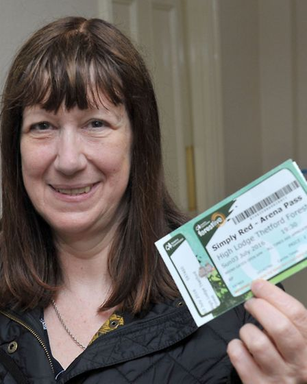 Simply Red ticket winner Sue Welland Picture: Steve Williams.