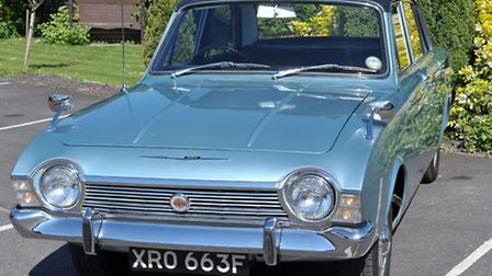 Ray Howes with his Ford Corsair 2000E. Picture: Steve Williams.