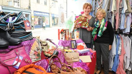 Suipporting Cancer Research Charity Shop in Ely with their indulgence day.