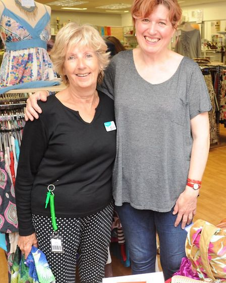 Suipporting Cancer Research Charity Shop in Ely with their 'indulgence day'.