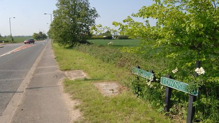 The Shade, Soham, where 88 news homes could be built.