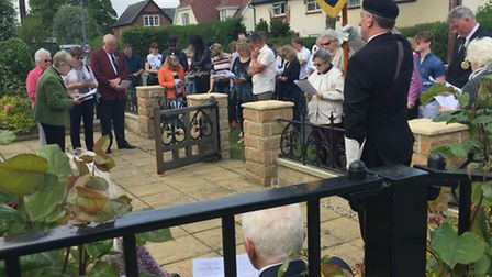 The Little Easton War Memorial service, which was held on Sunday, May 29
