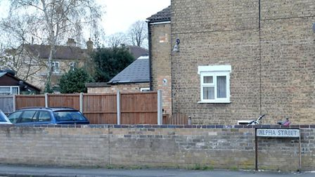Garage at the side of Alpha street. Picture: Steve Williams.