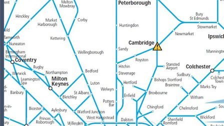 Trains in and out of Cambridge disrupted