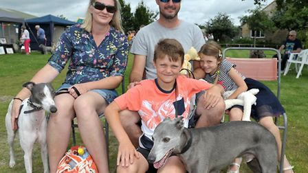 RSPCA gala day Block Fen Wimblington. Keane family with their pet whippets. Picture: Steve Williams
