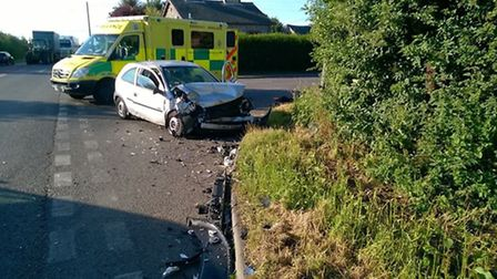 Drivers taken to hospital after two-vehicle collision on the A142