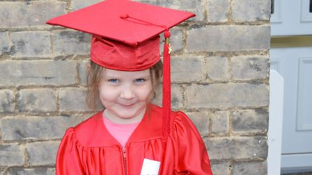 One of the children who will graduate in September