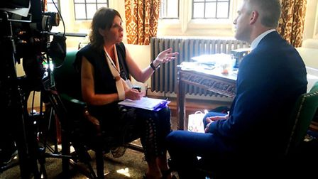 MP Steve Barclay earlier this month being interviewed about the need for more women MPs.