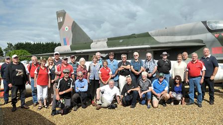 Fenland and West Norfolk Aviation Museum, Wisbech. Enthusiasts visiting from New Zealand. Picture: