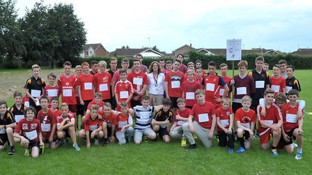 Red Man Run - boys race for life at Neale Wade. Picture: Steve Williams