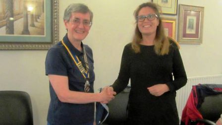 The latest member of Ely Rotary Club - Calene Easey