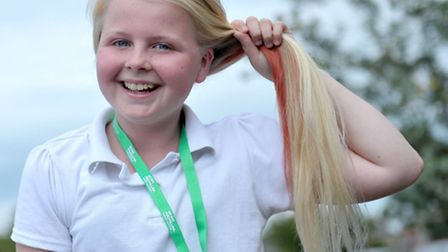Leah Connolly had her head shaved for Brave The Shave. Picture: Steve Williams.