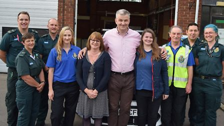 Peter Swan with wife Julie and daughter Sophie with life savers at Ely