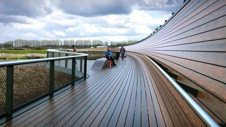 Ely Bypass. A new walkway and pedestrian route