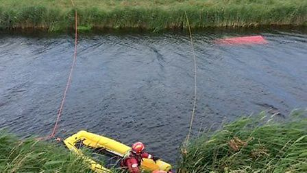 Firefighters had the chance to try out new underwater equipment at an incident in Fenland