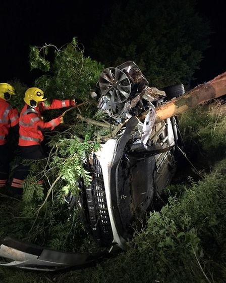 Motorist in stable condition following collision with tree in Ramsey Road, Warboys