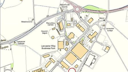 Red marks the spot of new coach park at Lancaster Way Ely
