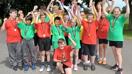 Neale Wade Sports transition Festival. Olympic rowing gold medalist, Zac Purchase with the Winners.