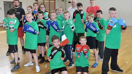 Neale Wade Sports transition Festival. Boxing group. Picture: Steve Williams.