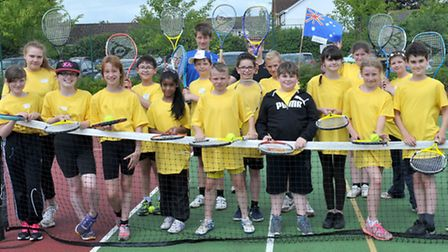 Neale Wade Sports transition Festival. Tennis group. Picture: Steve Williams.