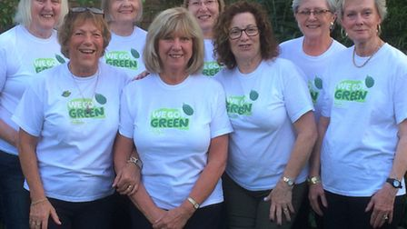 Macmillan Go Green group in March