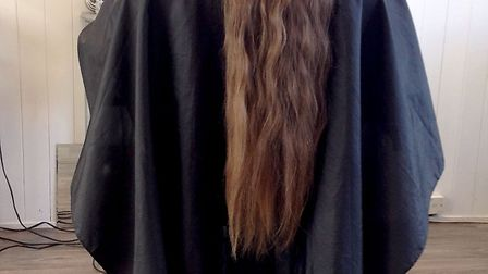 Meadowgate Student donates her hair to charity. Brave Dovile Kirmilaite (17) has cut her long hair i