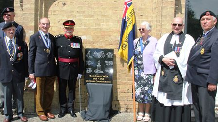 Men who died at the Battle of the Somme are commemorated with the unveiling of a plaque at Soham
