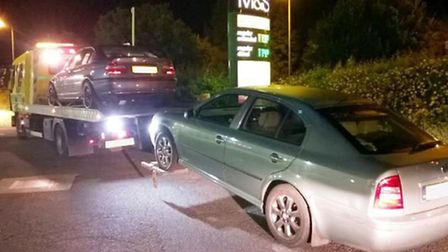 Two vehicles seized at the BP garage in Ely on the A142 for having no insurance