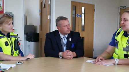 Cambs police commissioner Jason Ablewhite in Wisbech