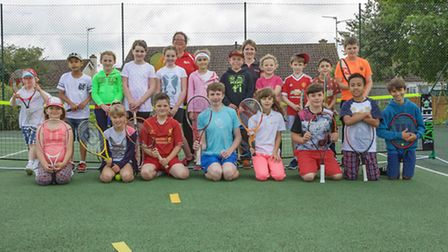 Chatteris Junior Tennis Club. Picture: Barry Giddings.